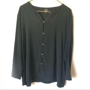 Eileen Fisher silk button up blouse